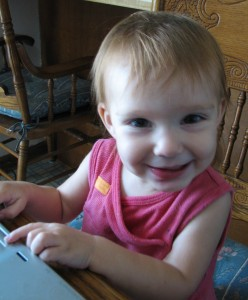 Little Girl blogging