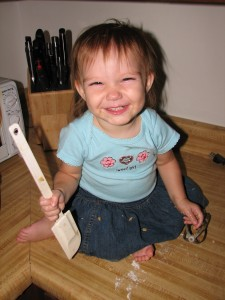 Little Girl with the spatula.