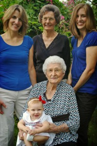All five generations of women in my family.